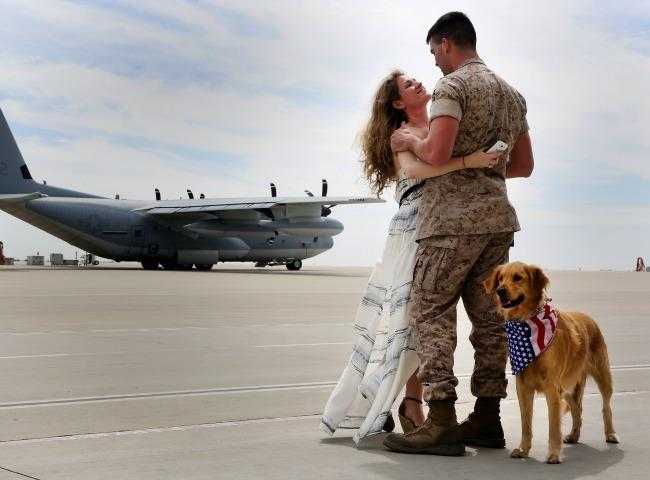 Military Wife And Dog Diamond Painting Kit - DIY