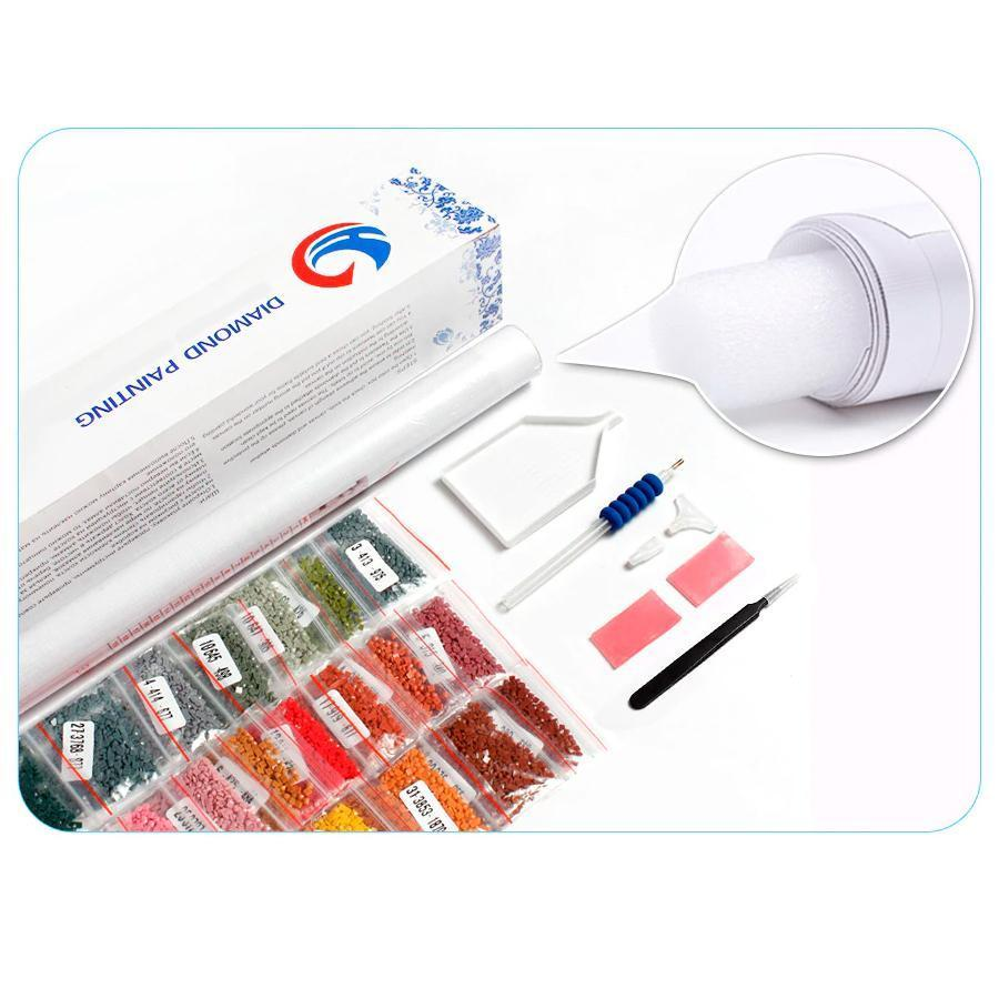 Accessories Set Diamond Painting Tools  Pen Tweezers, Plate Glue, Storage Box, Diamond Painting