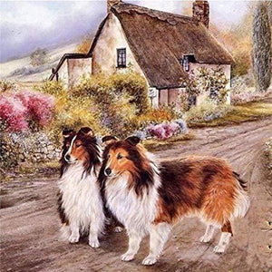 Cabin Dogs Diamond Painting Kit - DIY