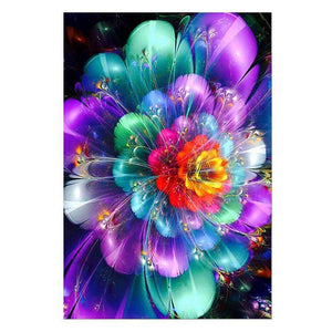 Rainbow Flowers Diamond Painting Kit - DIY Rainbow Flowers-4