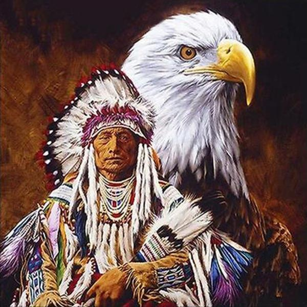 Eagle and Indian Diamond Painting Kit - DIY