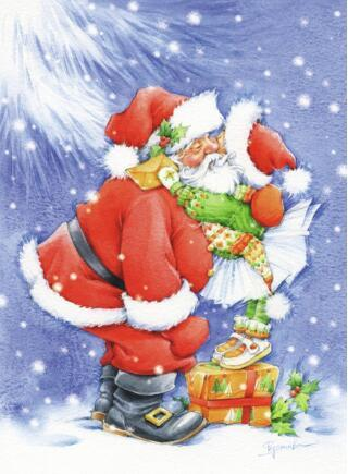 Santas Christmas Hug Diamond Painting Kit - DIY