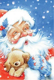 Santas Christmas Dog Diamond Painting Kit - DIY