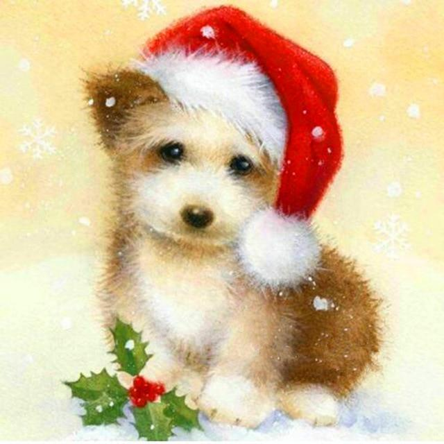 Christmas Dog Little Diamond Painting Kit - DIY