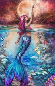 Mermaid Red Diamond Painting Kit - DIY