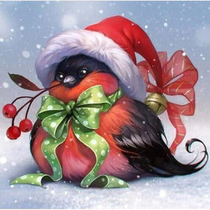 Christmas Bird Happy Diamond Painting Kit - DIY