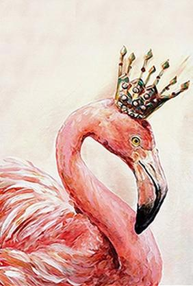 Flamingo Picture Diamond Painting Kit - DIY