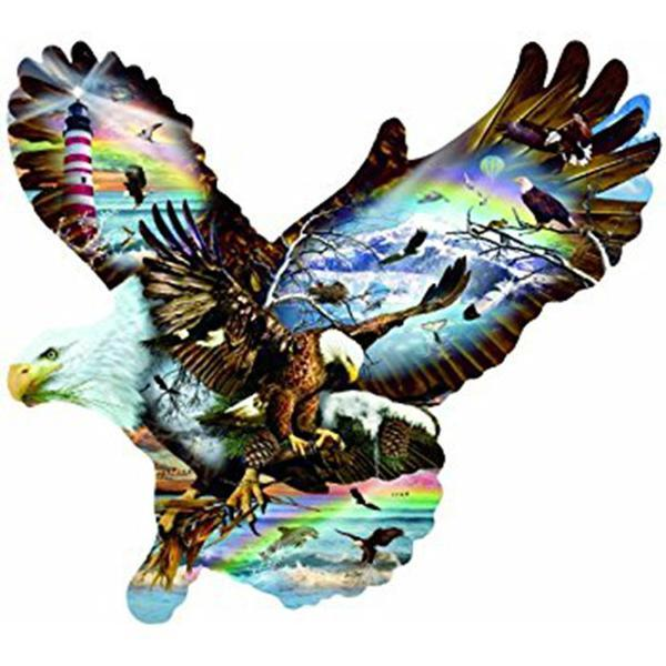Eagle In Eagle Diamond Painting Kit - DIY