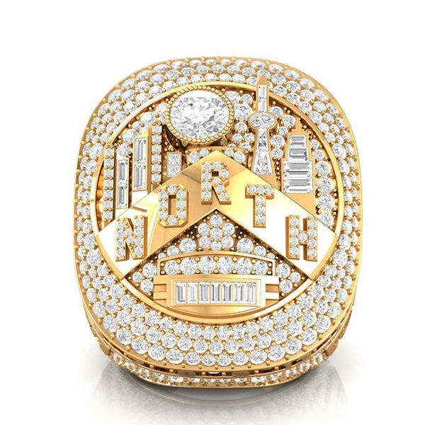 Toronto Raports Championship Ring - Gold w/ Lab Diamonds
