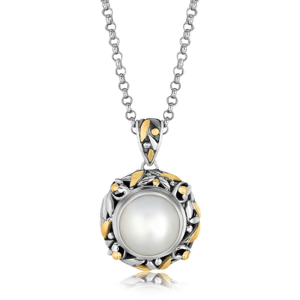 Pearl Necklace Sterling Silver Gold | Real Freshwater Pearl Pendant