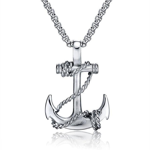 Anchor Necklace for Men - Chained- Stainless Steel