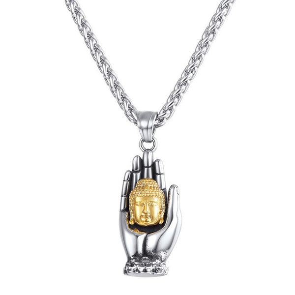 Buddha Necklace Silver Gold