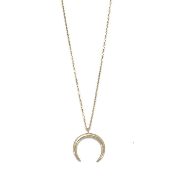 Crescent Moon Necklace | Sterling Silver, Gold