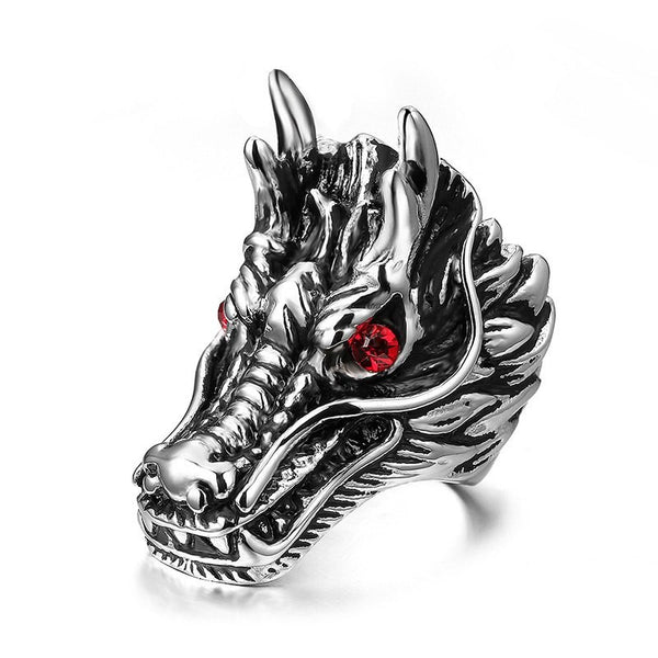 Dragon Ring with Red Eyes