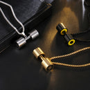 Dumbbell Necklace Stainless Steel - Silver, Gold, Black