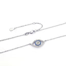 Evil Eye Necklace Sterling Silver | Gold, Silver, Rose Pendant