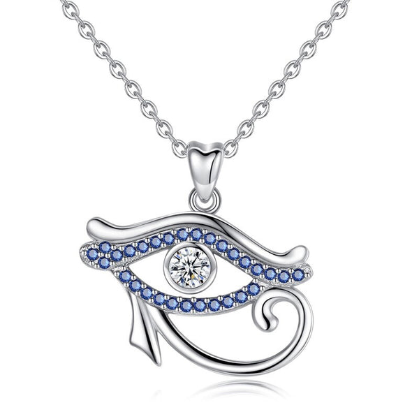 Eye of Horus Necklace Sterling Silver | Womens Egyptian Pendant