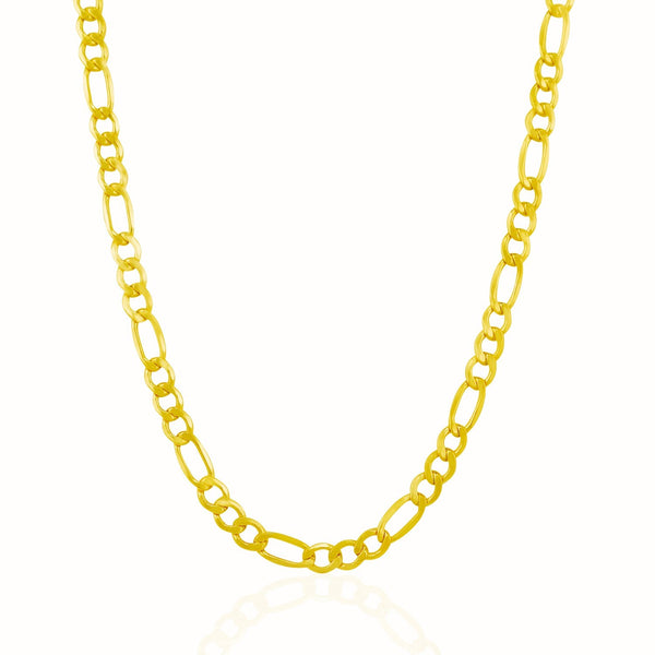 Figaro Chain Necklace | 10K Gold - 5.4 mm