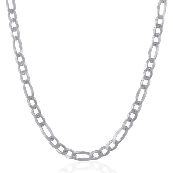 Figaro Chain Necklace (5.5 mm) - Sterling Silver
