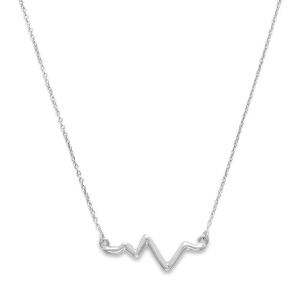 Heartbeat Necklace | Sterling Silver EKG Pendant