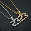 Iced Out 23 Necklace Basketball | Number 23 Pendant