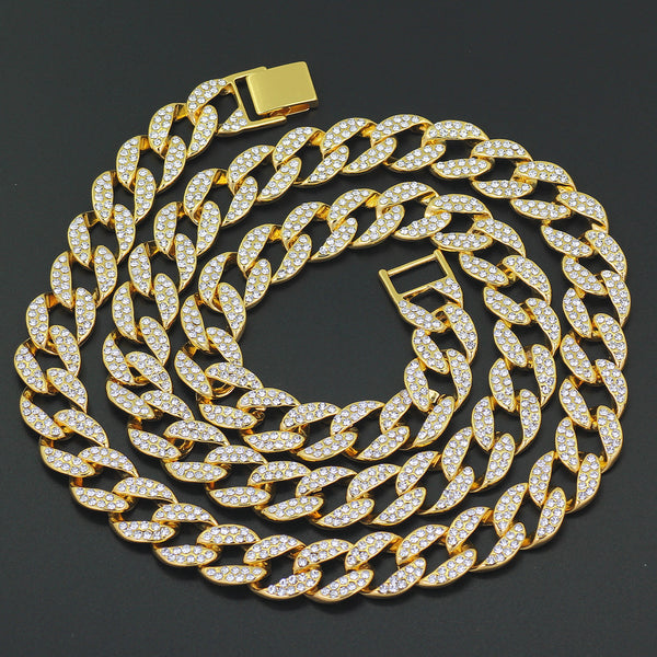 Cuban Link Chain For Sale >> Iced Out Cuban Link Chain Necklace