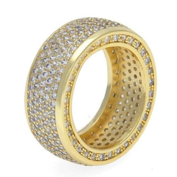 Iced Out Ring for Men - Gold