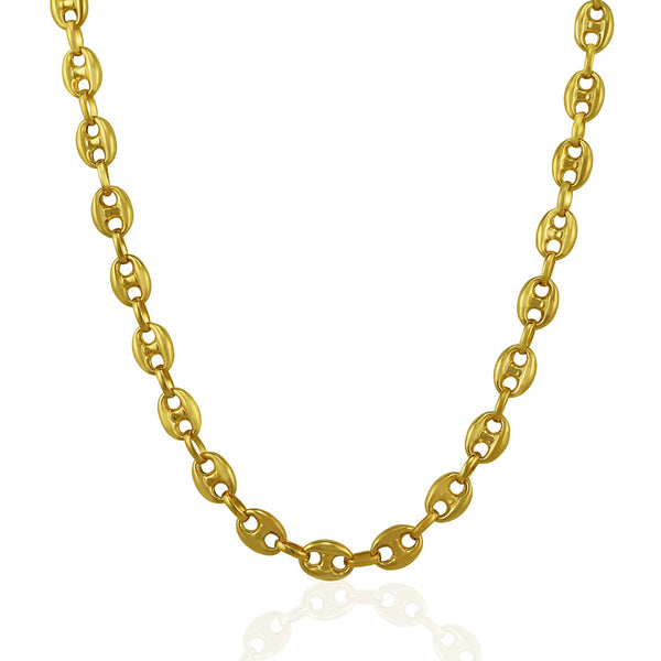 Mariner Chain 14K Gold - 6.9 mm | Puffed Gucci Link Chain