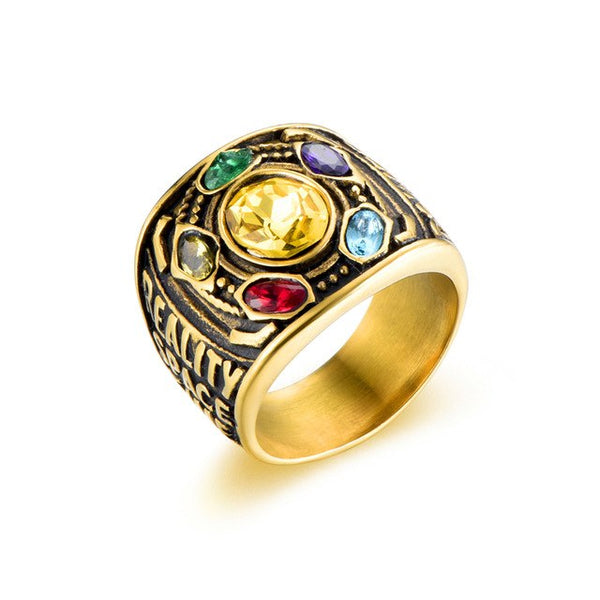 Marvel Thanos Infinity Gauntlet Ring - Gold Stainless Steel