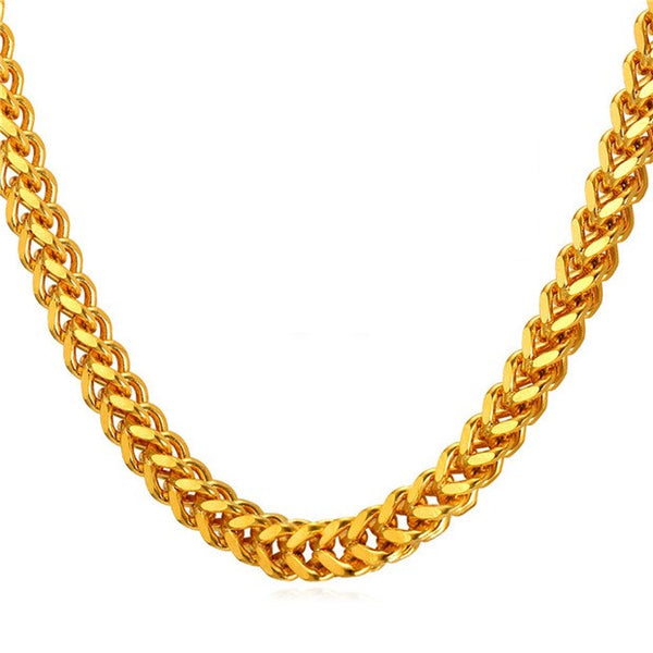 Gold Franco Chain Necklace 6 mm
