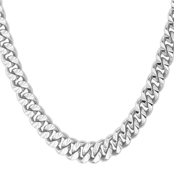 Miami Cuban Link Chain for Men | 6mm - Stainless Steel - Silver