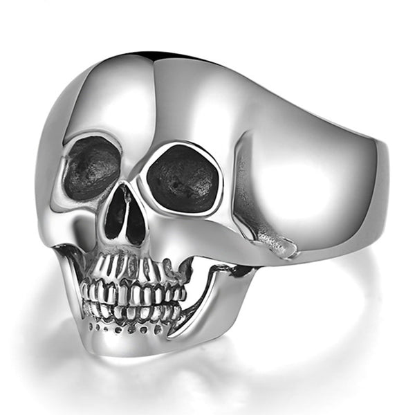 Sterling Silver Skull Ring for Men