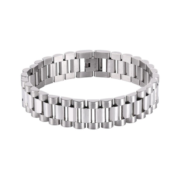 Silver Bracelet for Men in Stainless Steel