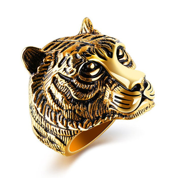 Men's Tiger Ring in Stainless Steel