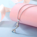 Mermaid Necklace Sterling Silver with CZ