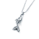 Mermaid Pendant Silver Womens
