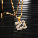 Iced Out Number 23 Necklace Basketball Chain Gold
