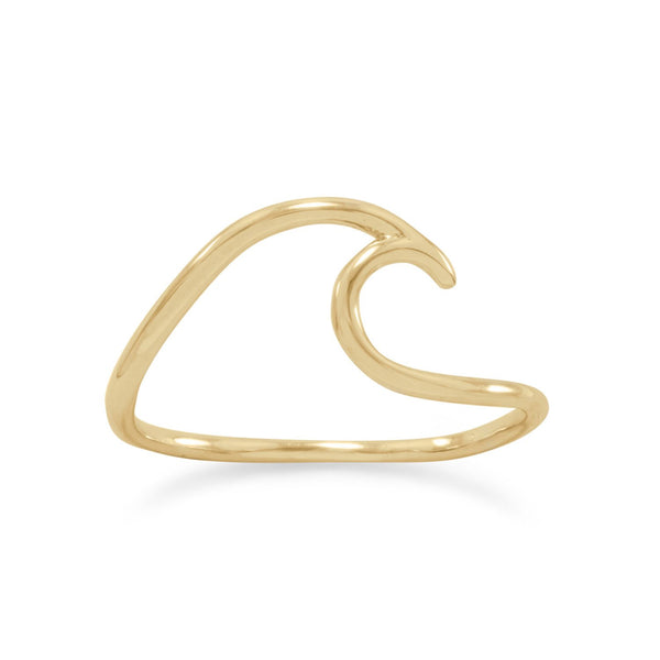 Wave Ring Sterling Silver | Ocean Ring - Gold, Silver