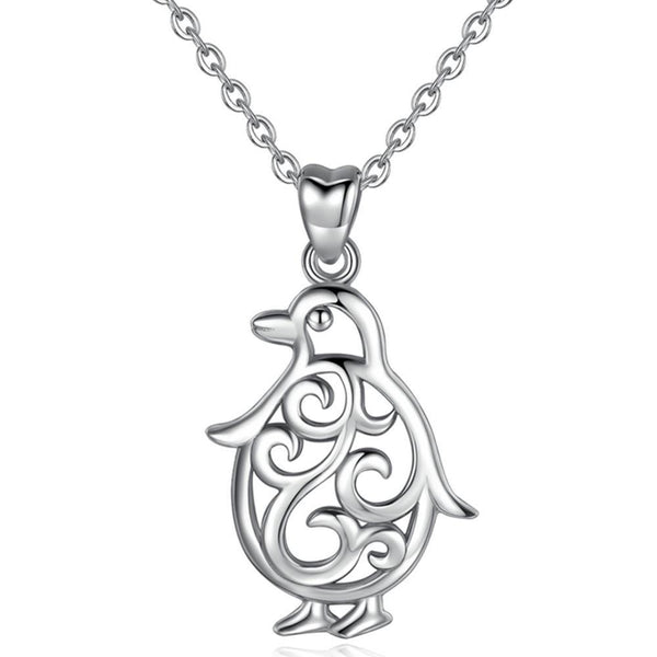 Penguin Necklace Sterling Silver