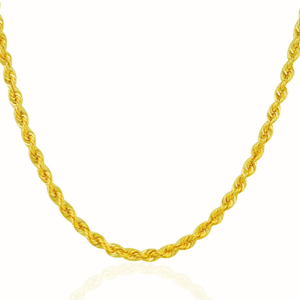 Rope Chain Necklace | 14K Gold - 3 mm