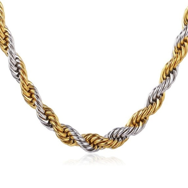 Rope Chain 5mm Silver Gold