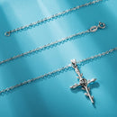 Rose Cross Necklace for Women