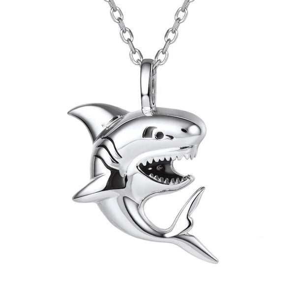 Shark Necklace Sterling Silver