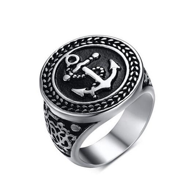 Signet Anchor Ring for Men