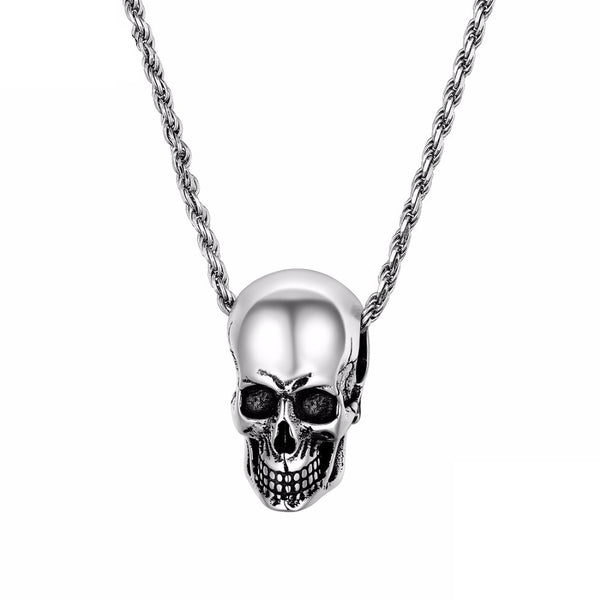 Skull Necklace Sterling Silver Pendant