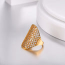 Gold Cubic Zirconia Statement Ring