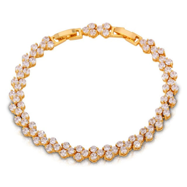 Womens Tennis Bracelet - Gold