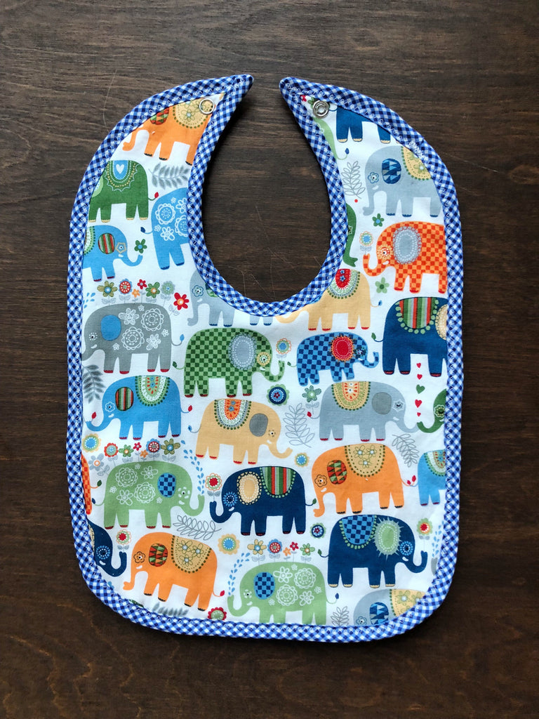 Marching Elephants Bib