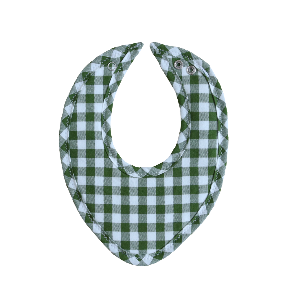 Evergreen Gingham Drool Bib
