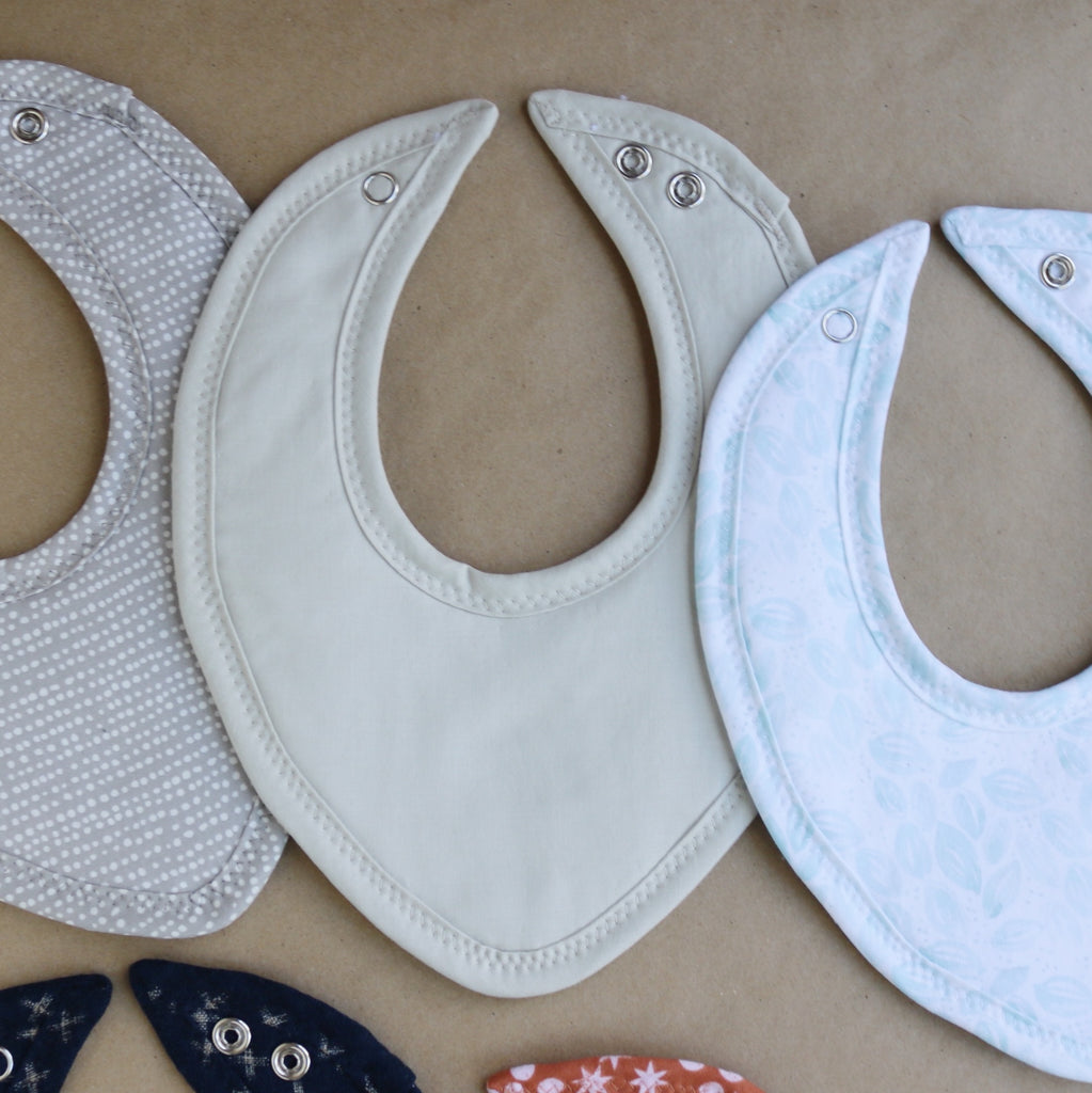 Grey Solid Drool Bib